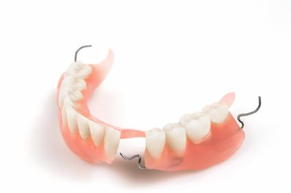 A Partial Denture On A White Backdrop | Partial Dentures St. Paul, MN